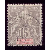 1 марка 1900 год Гваделупа 42