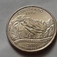 25 центов, квотер США, штат Колорадо, P D
