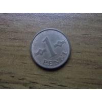 Финляндия 1 пенни 1963