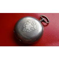КОРПУС -серебро-800-31.2гр.- *от старинных карманных часов/клейма