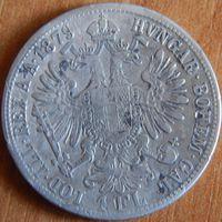 20. Австро-Венгрия 1 флорин 1879 год, серебро*