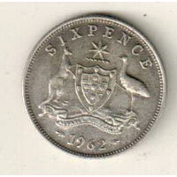 Австралия 6 пенс 1962