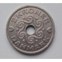 Дания 2 кроны 1992 год_km874 (LG JP.A)_первый год выпуска