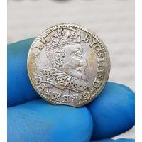 Монета Сигизмунд III серебро Польша Рига 1594 3 Гроша С 1 Рубля без МЦ