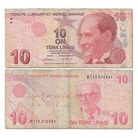 Турция. 10 лир 2009 г. серия B [P.222.b]