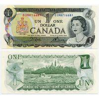 Канада. 1 доллар (образца 1973 года, P85c, UNC)