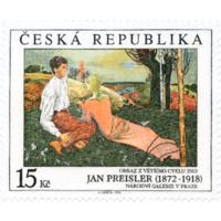 Чехия 1998 г. Живопись. Известные личности. Ян Прейслер . *