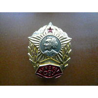 Знак нагрудный. Суворовское военное училище. Минское СВУ. Закрутка.