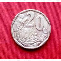 34-20 ЮАР, 20 центов 2012 г.
