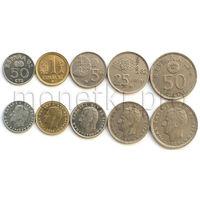 Испания 5 монет 1980-1982 годов. Чемпионат мира по футболу 1982 (VF-XF)