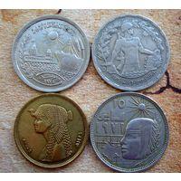 Египет. 4 монеты 1974-2010 г.