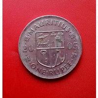 90-28 Маврикий, 1 рупия 2005 г.
