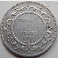 19. Тунис 1 франк 1911 год*