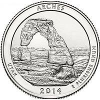 США 25 центов 2014 Арки Arches – D