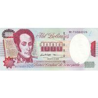 Венесуэла 1000 боливаров образца 1998 года UNC P76d