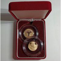 Грюнвальдская битва. 600 лет, золото, подарочный набор из 2-х монет в футляре