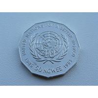"""Замбия. 50 нгве 1985 год  """"40 лет ООН""""  KM#24 Редкая!!!"""