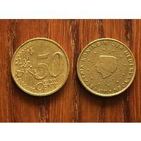 Нидерланды, 50 евроцентов 2001