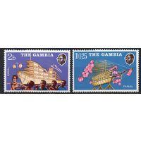 Корабли - фонари Гамбия 1972 год серия из 2-х чистых марок (М)