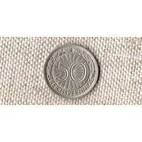 Германия 50 пфеннигов 1928 D //(Ок)