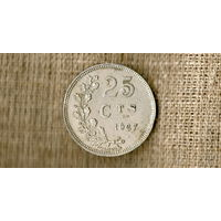 Люксембург 25 сантимов 1927 ///(ON)