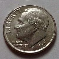 10 центов (дайм) США 1995 P