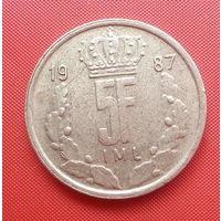 68-30 Люксембург, 5 франков 1987 г.