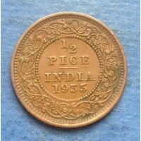 Индия Британская колония 1/2 пайса 1935 Георг V