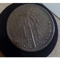 1 франк 1929 Бельгийское Конго