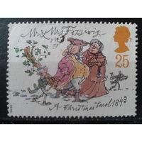 Англия 1993 Рождество, иллюстрация романа Ч. Диккенса*