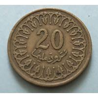 Тунис 20 миллимов 1993 г.