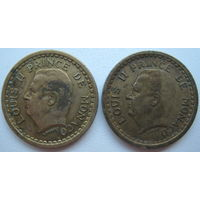Монако 1 франк 1945 г. Цена за 1 шт. (g)