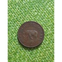 Либерия 1 цент 1972 г (  слон , корабль )