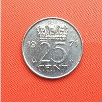 Нидерланды, 25 центов 1971 г. Распродажа!