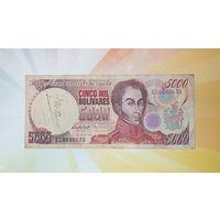 Венесуэла 5000 боливар 1998г.