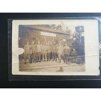 Азаричи, фотооткрытка, железная дорога, паровоз, 1-я мировая война !