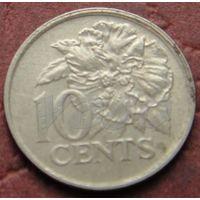 1768:  10 центов 1990 Тринидад и Тобаго