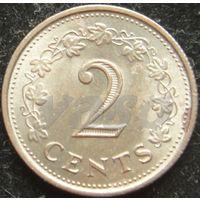 1704:  2 цента 1977 Мальта
