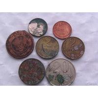 Россия монеты разных времён 7 шт  + 2 монеты бонус.  распродажа