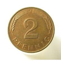 ФРГ 2 пфеннига 1995 J