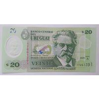 Уругвай 20 песо 2020 года  UNC