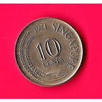 27-37 Сингапур, 10 центов 1971 г.
