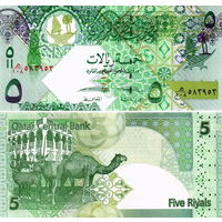 Катар 5 риалов   2008 год UNC