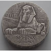 "Чад 2019 серебро (5 oz) ""Египетские реликвии. Сфинкс"" (box)"