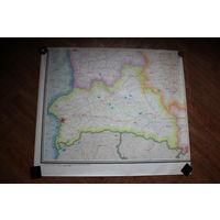 Карта Белорусской ССР 1987 г. (большая)