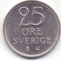 Швеция, 25 эре 1973 года.