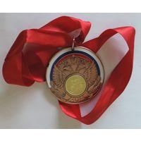 Спортивная медаль . Диаметр 7 см. тяжёлая. Россия.