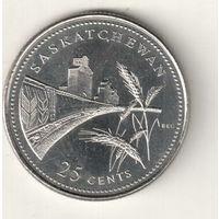 Канада 25 цент 1992 Саскачеван