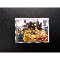 Марка Великобритания 1981 год. Рыболовство  Корабли