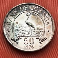 126-21 Уганда, 50 центов 1976 г.